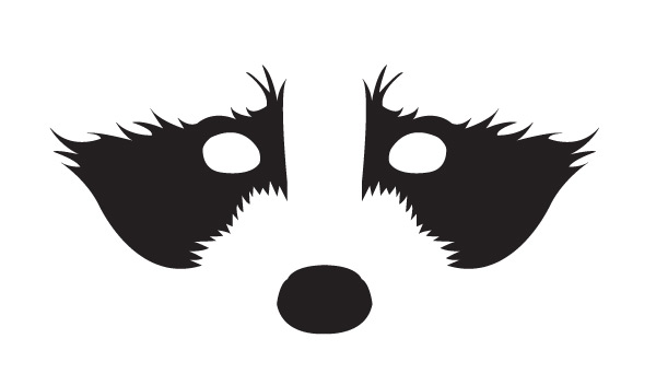 The gallery for --> Albino Crow Raccoon Face Clip Art Black And White